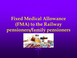 Fixed Medical Allowance (FMA)