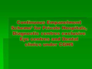Continuous Empanelment Scheme' for Private Hospitals,