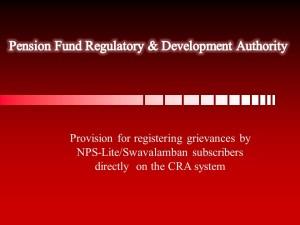 NPS Lite CRA System