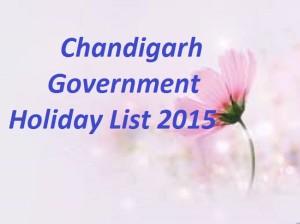 Chandigarh Holiday List 2015