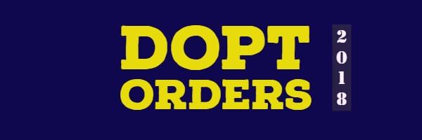 DOPT Orders 2018
