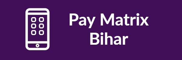 Pay Matrix Bihar