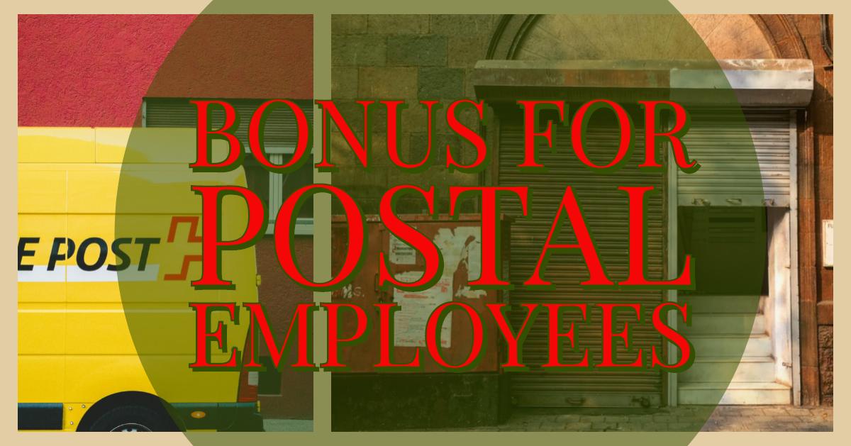 Bonus for Postal Employees