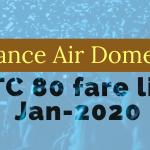 Alliance air fare list Jan-2020