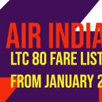 LTC 80 Fare List Jan 2020