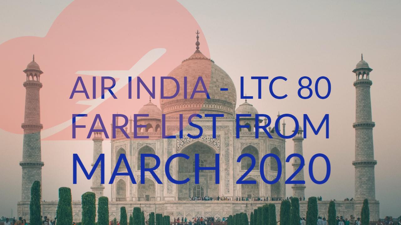 March 2020 LTC Air fare