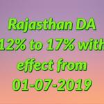 Rajasthan DA July 2019