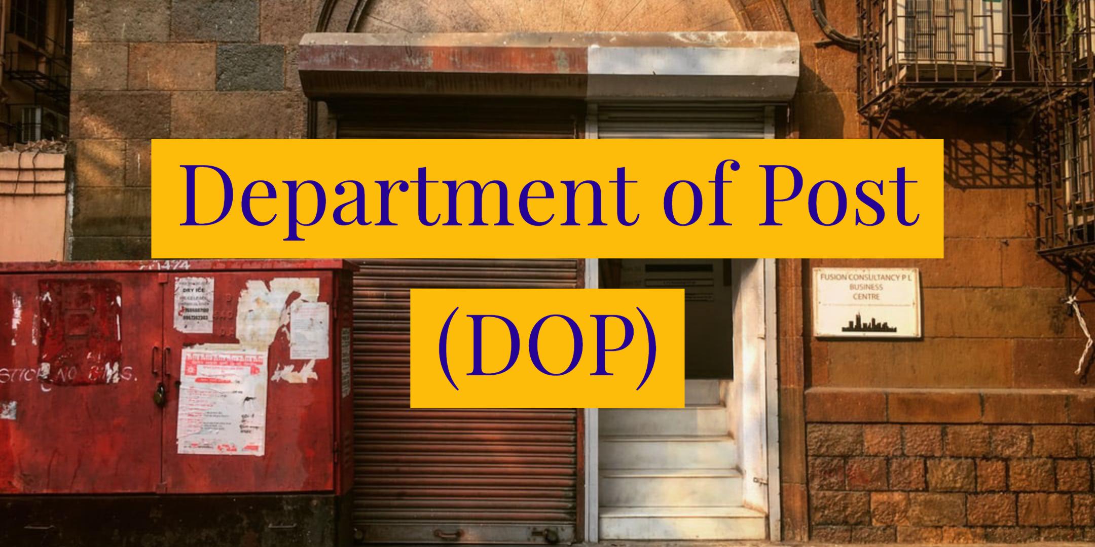 Department of Post Orders