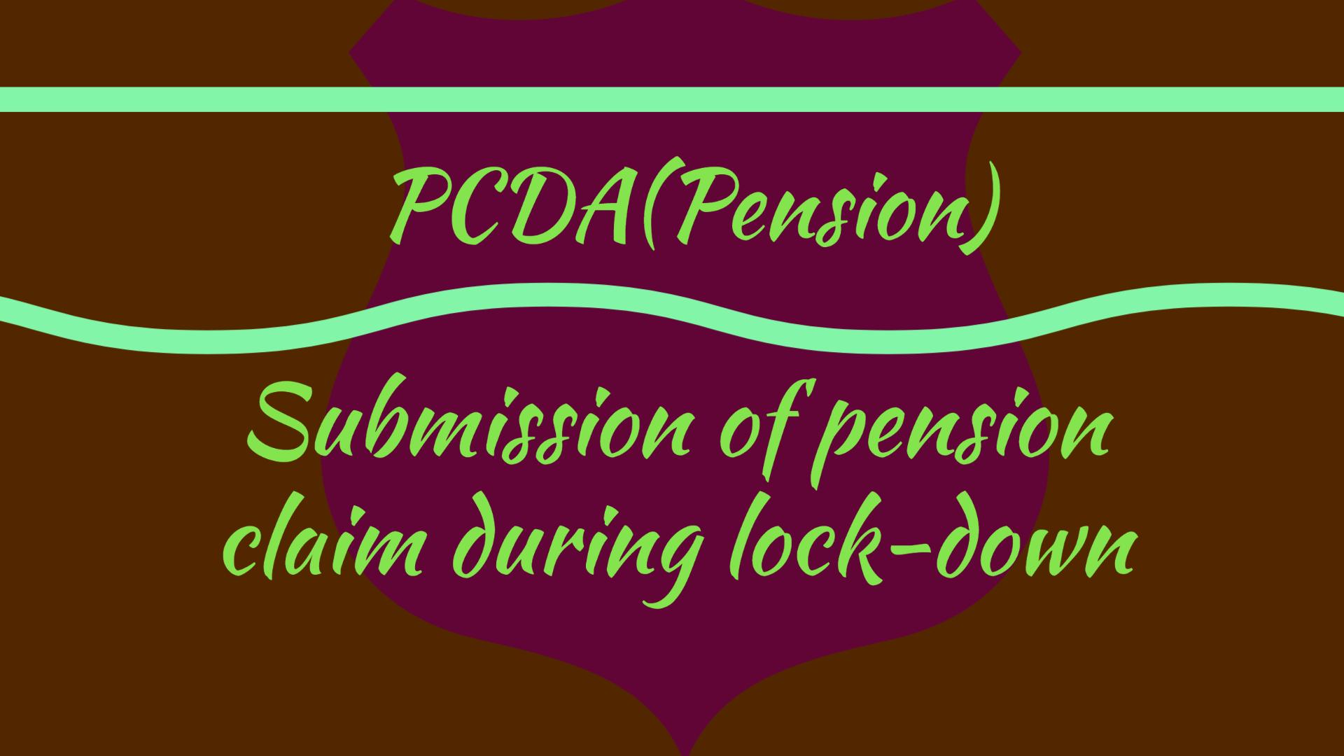 PCDA Pension Circular