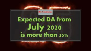 Expected DA Calculator from July 2020