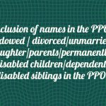 Inclusion of names in the PPO