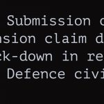 Submission of pension claim during lock-down