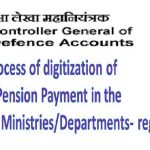 Process of digitization of Pension Payment