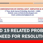 Covid 19 related problems –need for resolution