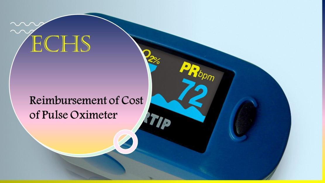 Reimbursement of Cost of Pulse Oximeter
