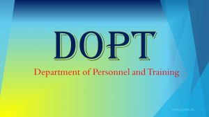 Department of Personnel and Training