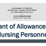 Grant of Allowance to Nursing Personnel
