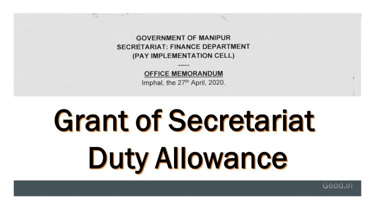 Grant of Secretariat Duty Allowance