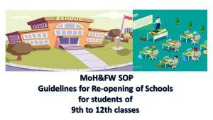 Re-opening of schools
