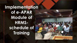 e-APAR training schedule