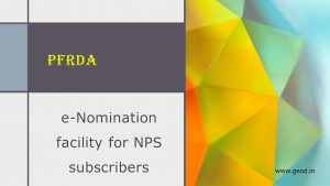 e-Nomination facility for NPS