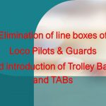 Loco pilots and trolley bags