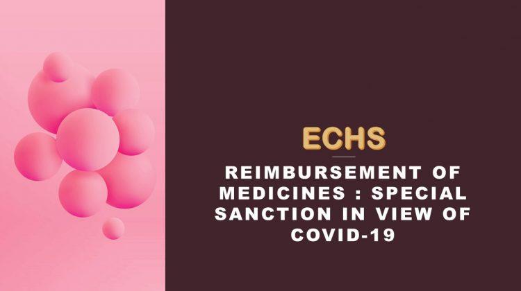 Reimbursement of medicines - special sanction in view of covid-19