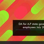 DA for A.P state government employees 2018