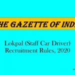 Lokpal (Staff Car Driver) Recruitment Rules, 2020