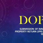 Submission of Immovable Property Return (IPR) for the year 2020