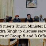 BMS meets Union Minister Dr Jitendra Singh to discuss service matters of Group A and B Officers
