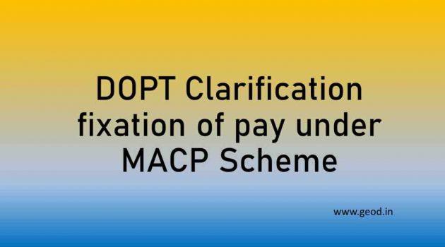 DOPT Clarificatioin