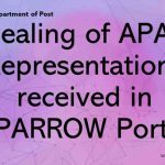 Dealing of APAR Representations received in SPARROW Portal